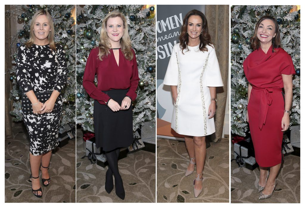 Catriona O Connor, Nuala Carey, Lorraine Keane and Oonagh Meagher at the World Vision Women mean Business event at the Intercontinental Hotel in Ballsbridge, Dublin. Picture: Brian McEvoy