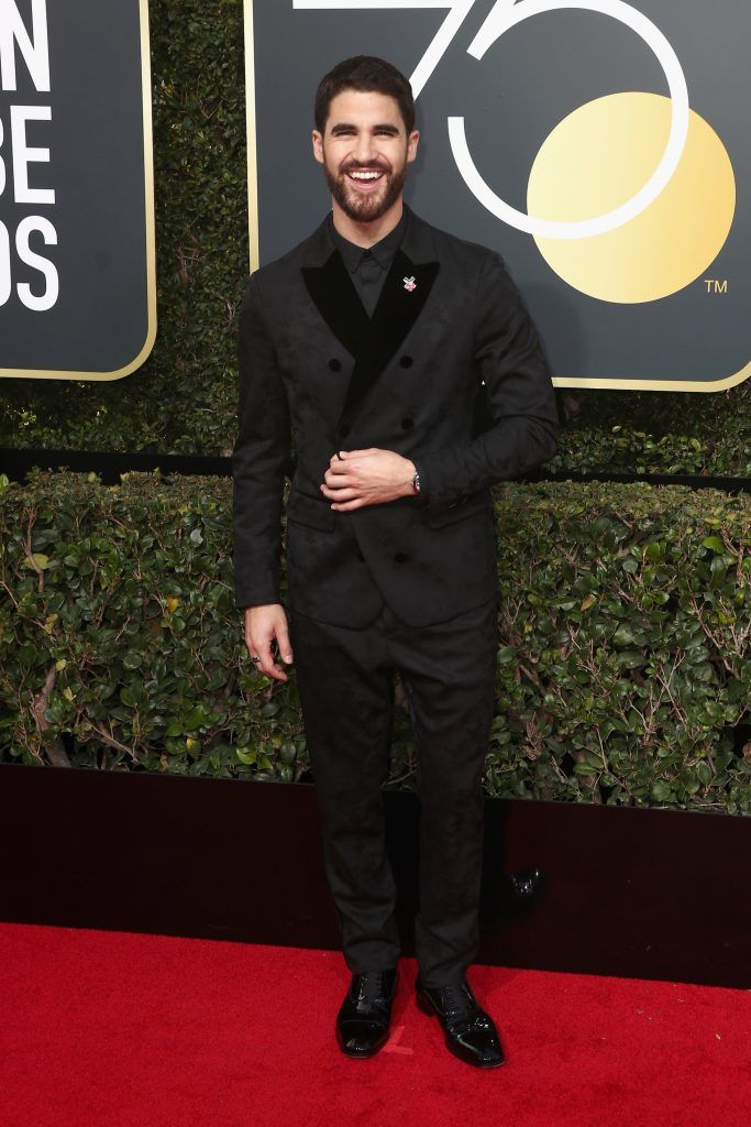 BEVERLY HILLS, CA - JANUARY 07:  Actor Darren Criss attends The 75th Annual Golden Globe Awards at The Beverly Hilton Hotel on January 7, 2018 in Beverly Hills, California.  (Photo by Frederick M. Brown/Getty Images)