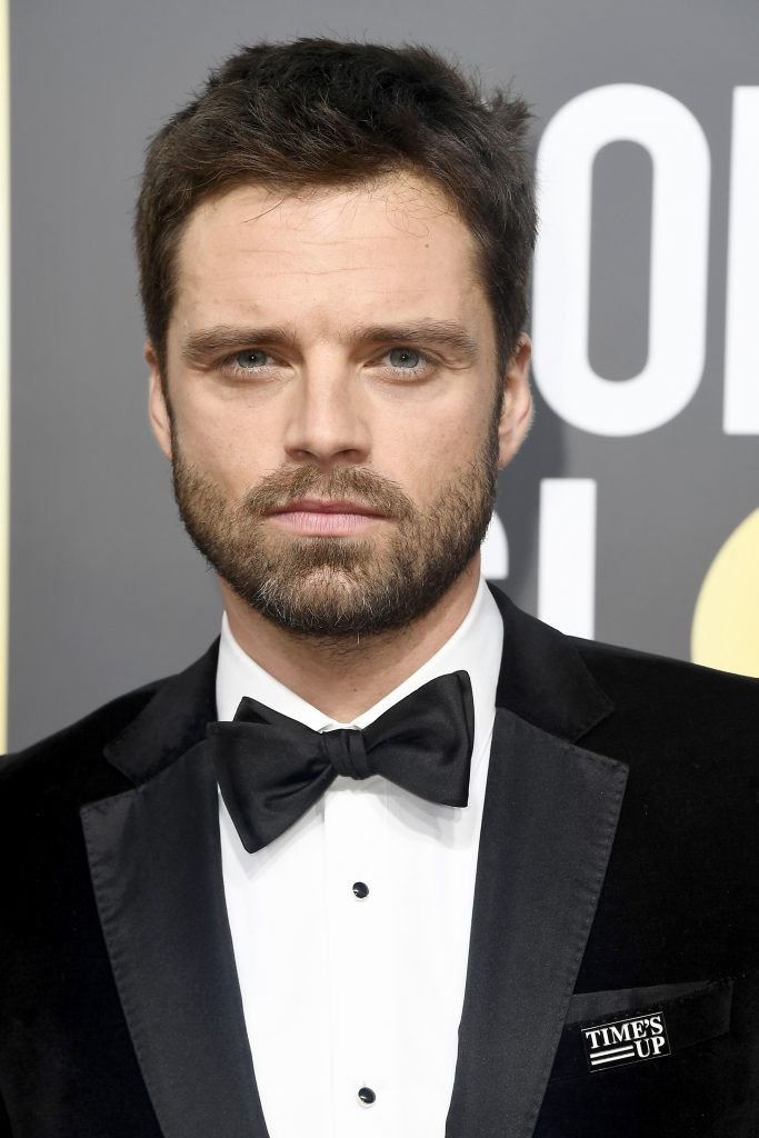 BEVERLY HILLS, CA - JANUARY 07:  Actor Sebastian Stan attends The 75th Annual Golden Globe Awards at The Beverly Hilton Hotel on January 7, 2018 in Beverly Hills, California.  (Photo by Frazer Harrison/Getty Images)