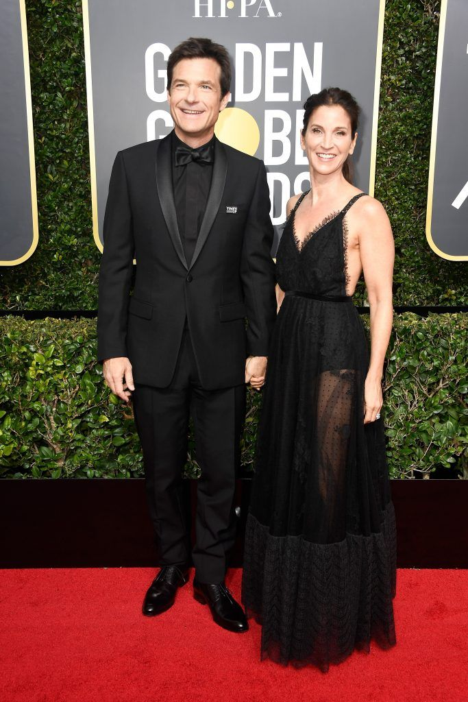 BEVERLY HILLS, CA - JANUARY 07:  Jason Bateman and Amanda Anka attends The 75th Annual Golden Globe Awards at The Beverly Hilton Hotel on January 7, 2018 in Beverly Hills, California.  (Photo by Frazer Harrison/Getty Images)