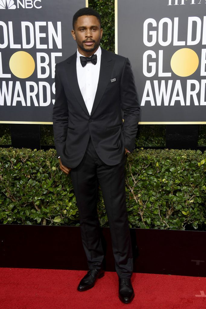 BEVERLY HILLS, CA - JANUARY 07:  Actor Nnamdi Asomugha attends The 75th Annual Golden Globe Awards at The Beverly Hilton Hotel on January 7, 2018 in Beverly Hills, California.  (Photo by Frazer Harrison/Getty Images)