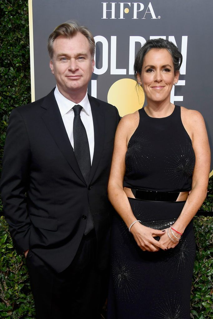BEVERLY HILLS, CA - JANUARY 07:  Director Christopher Nolan (L) and producer Emma Thomas attend The 75th Annual Golden Globe Awards at The Beverly Hilton Hotel on January 7, 2018 in Beverly Hills, California.  (Photo by Frazer Harrison/Getty Images)