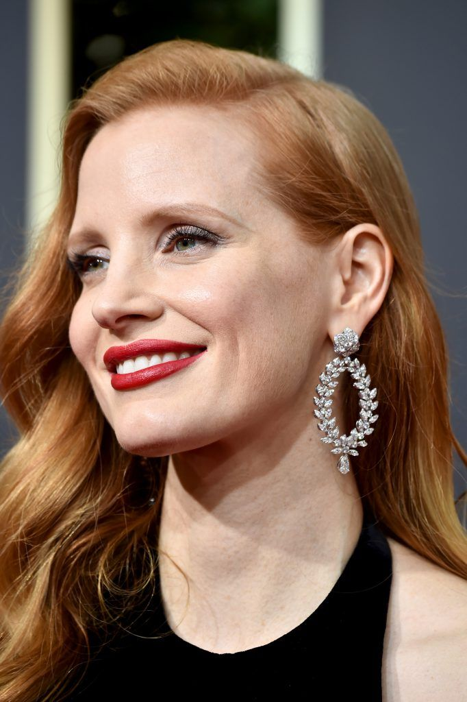 BEVERLY HILLS, CA - JANUARY 07:  Actor Jessica Chastain attends The 75th Annual Golden Globe Awards at The Beverly Hilton Hotel on January 7, 2018 in Beverly Hills, California.  (Photo by Frazer Harrison/Getty Images)