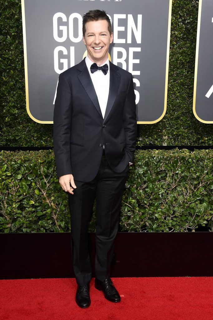 BEVERLY HILLS, CA - JANUARY 07:  Actor Sean Hayes attends The 75th Annual Golden Globe Awards at The Beverly Hilton Hotel on January 7, 2018 in Beverly Hills, California.  (Photo by Frazer Harrison/Getty Images)