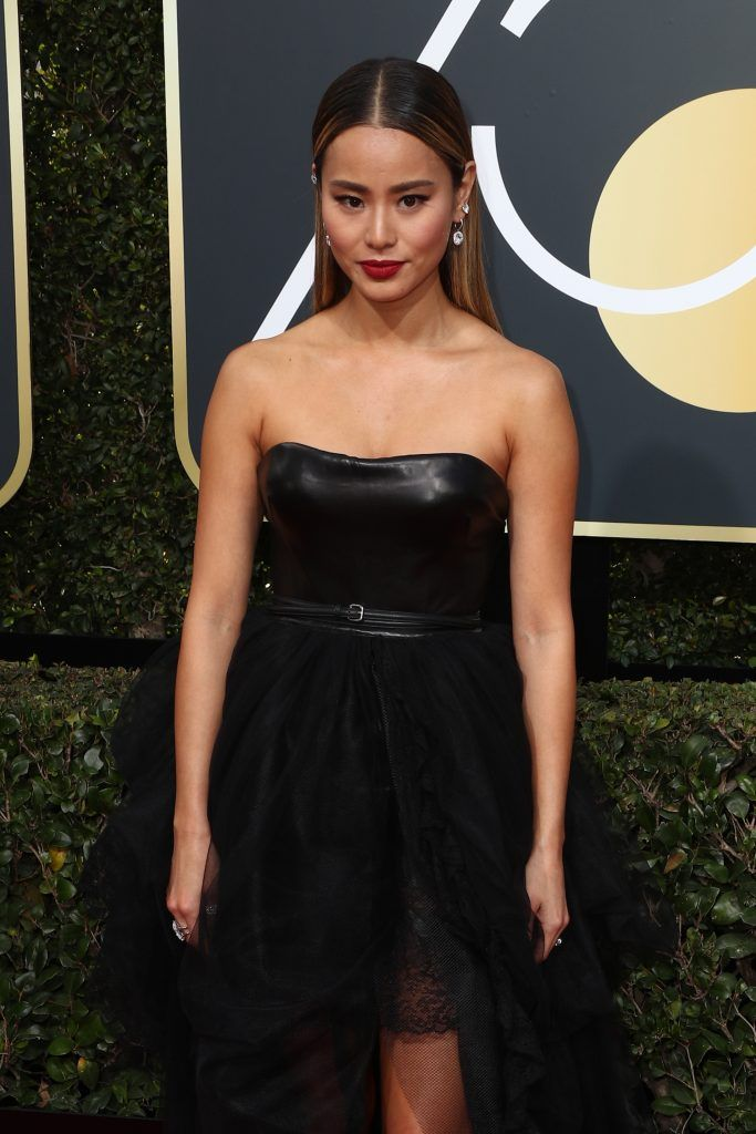 BEVERLY HILLS, CA - JANUARY 07:  Jamie Chung attends The 75th Annual Golden Globe Awards at The Beverly Hilton Hotel on January 7, 2018 in Beverly Hills, California.  (Photo by Frederick M. Brown/Getty Images)