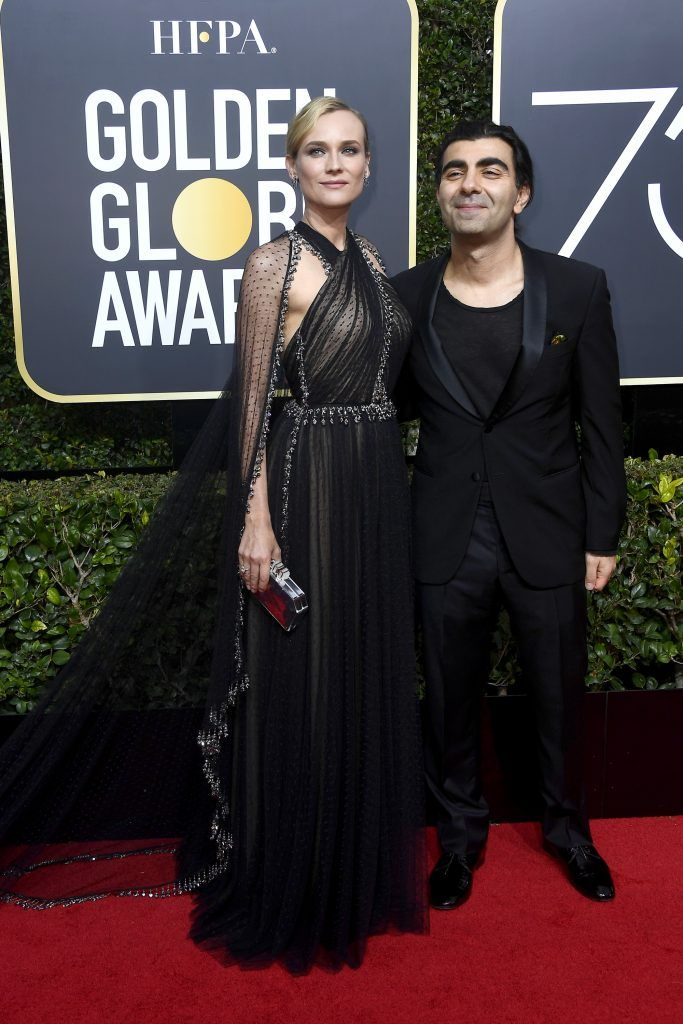 BEVERLY HILLS, CA - JANUARY 07:  Actor Diane Kruger and director Fatih Akin attend The 75th Annual Golden Globe Awards at The Beverly Hilton Hotel on January 7, 2018 in Beverly Hills, California.  (Photo by Frazer Harrison/Getty Images)