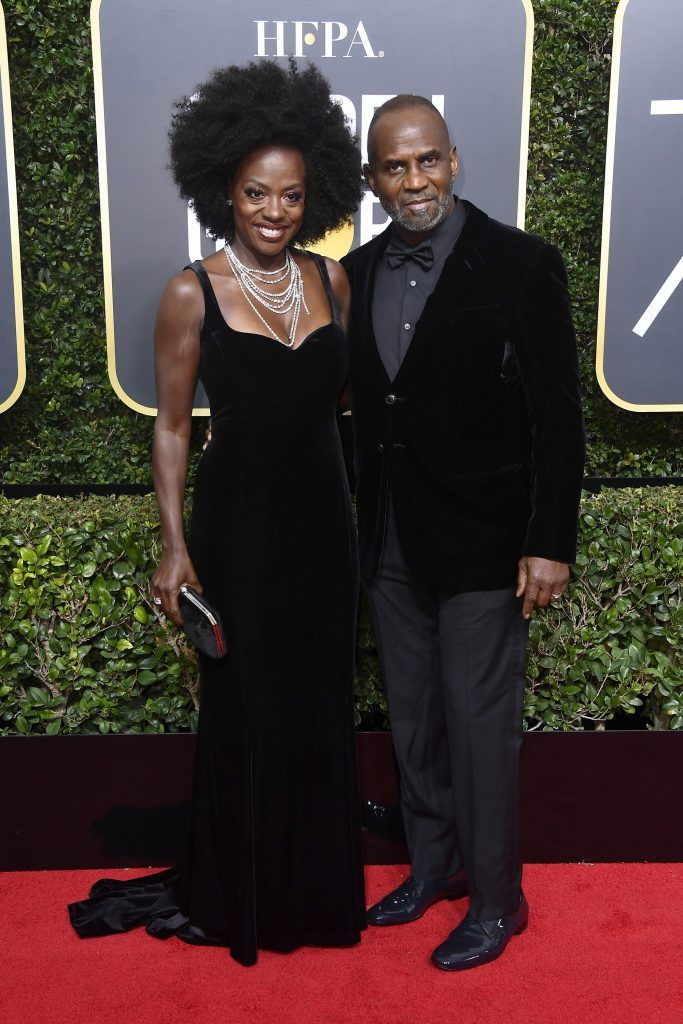 BEVERLY HILLS, CA - JANUARY 07:  Actor Viola Davis (L) and Julius Tennon attend The 75th Annual Golden Globe Awards at The Beverly Hilton Hotel on January 7, 2018 in Beverly Hills, California.  (Photo by Frazer Harrison/Getty Images)