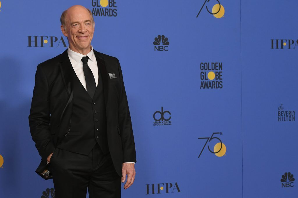BEVERLY HILLS, CA - JANUARY 07:  Actor J.K. Simmons poses in the press room during The 75th Annual Golden Globe Awards at The Beverly Hilton Hotel on January 7, 2018 in Beverly Hills, California.  (Photo by Kevin Winter/Getty Images)