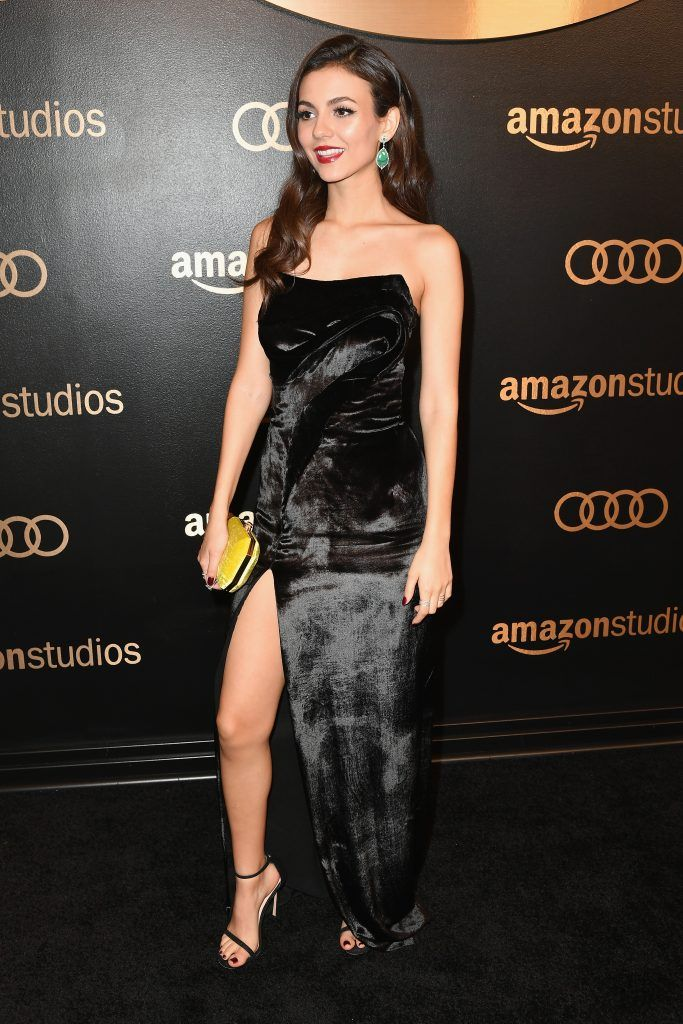 Actor Victoria Justice attends Amazon Studios' Golden Globes Celebration at The Beverly Hilton Hotel on January 7, 2018 in Beverly Hills, California.  (Photo by Earl Gibson III/Getty Images)
