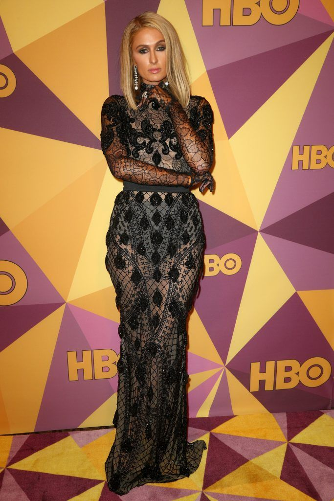 Paris Hilton attends HBO's Official Golden Globe Awards After Party at Circa 55 Restaurant on January 7, 2018 in Los Angeles, California.  (Photo by Frederick M. Brown/Getty Images)