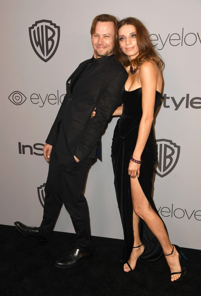 Actors Jimmi Simpson and Angela Sarafyan attend 19th Annual Post-Golden Globes Party hosted by Warner Bros. Pictures and InStyle at The Beverly Hilton Hotel on January 7, 2018 in Beverly Hills, California.  (Photo by Frazer Harrison/Getty Images)