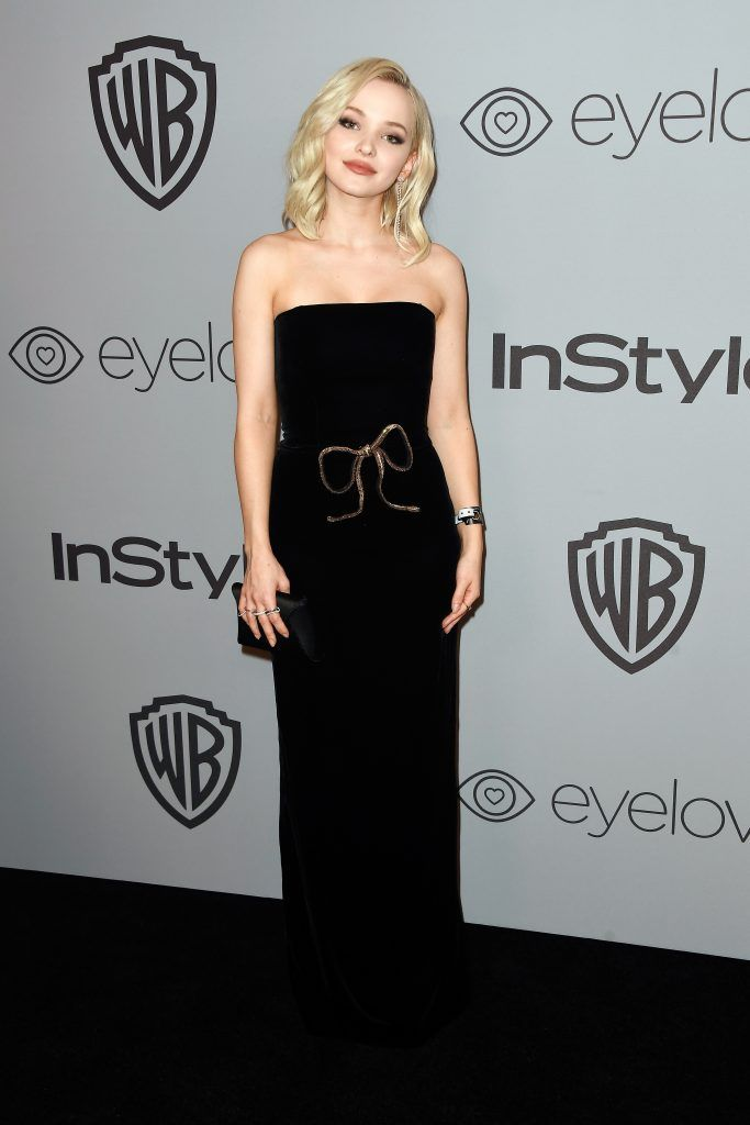 Actor Dove Cameron attends 19th Annual Post-Golden Globes Party hosted by Warner Bros. Pictures and InStyle at The Beverly Hilton Hotel on January 7, 2018 in Beverly Hills, California.  (Photo by Frazer Harrison/Getty Images)