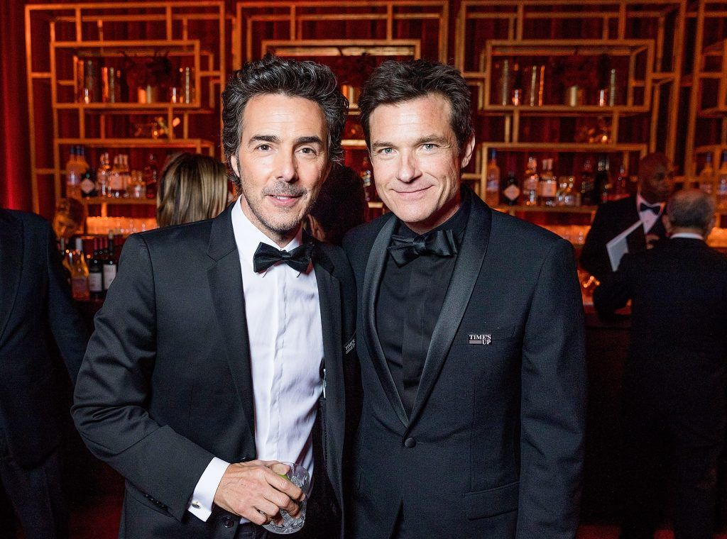 Shawn Levy and Jason Bateman attend  the Netflix Golden Globes after party at Waldorf Astoria Beverly Hills on January 7, 2018 in Beverly Hills, California.  (Photo by Netflix via Getty Images)