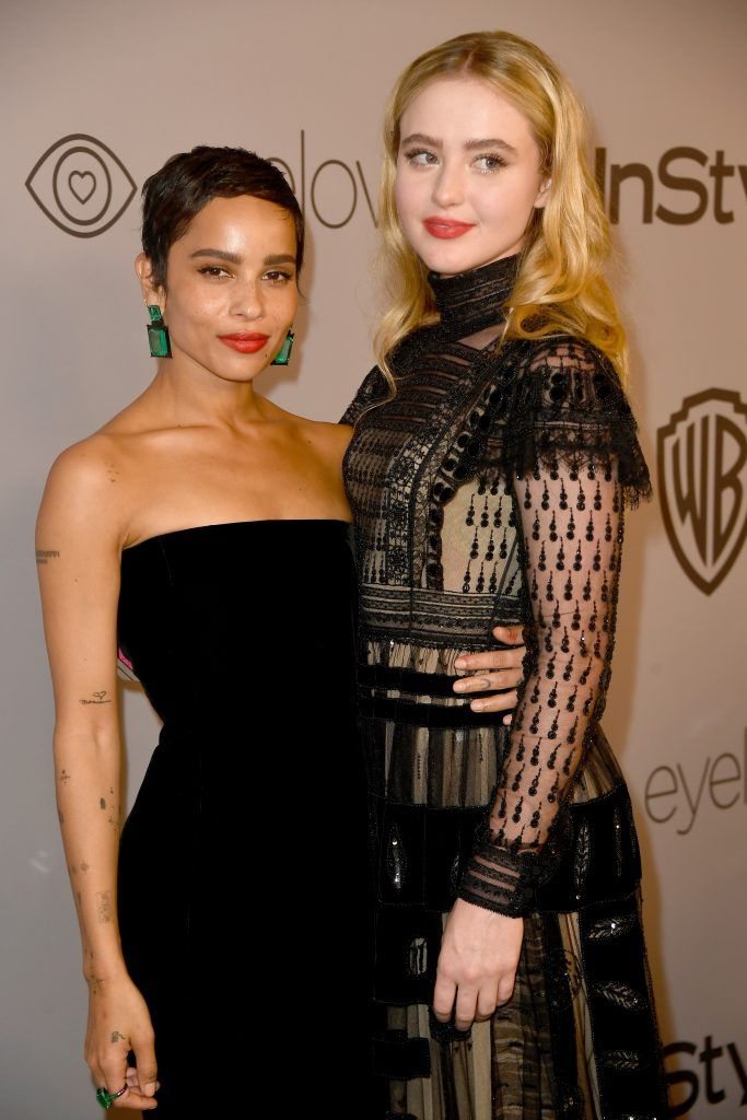 Actors Zoe Kravitz (L) and Kathryn Newton attends 19th Annual Post-Golden Globes Party hosted by Warner Bros. Pictures and InStyle at The Beverly Hilton Hotel on January 7, 2018 in Beverly Hills, California.  (Photo by Frazer Harrison/Getty Images)