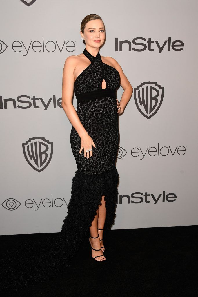Model Miranda Kerr attends 19th Annual Post-Golden Globes Party hosted by Warner Bros. Pictures and InStyle at The Beverly Hilton Hotel on January 7, 2018 in Beverly Hills, California.  (Photo by Frazer Harrison/Getty Images)