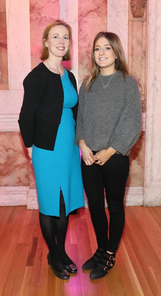 Monica MacLaverty and Doireann Ni Ghlacain pictured at the launch of TradFest 2018 at the Department of Foreign Affairs, Dublin. Photo: Brian McEvoy Photography