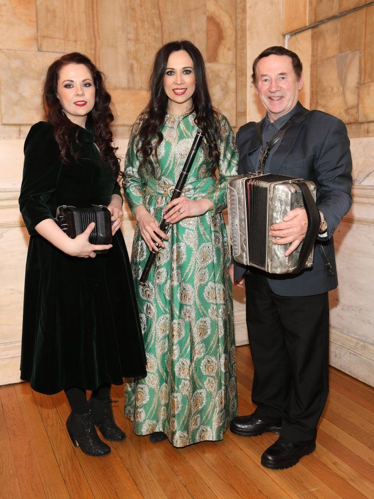 Michelle Mulcahy, Louise Mulcahy and Michael Mulcahy pictured at the launch of TradFest 2018 at the Department of Foreign Affairs, Dublin. Photo: Brian McEvoy Photography