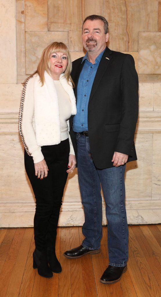 Colette Gallagher and Padraic Og Gallagaher pictured at the launch of TradFest 2018 at the Department of Foreign Affairs, Dublin. Photo: Brian McEvoy Photography