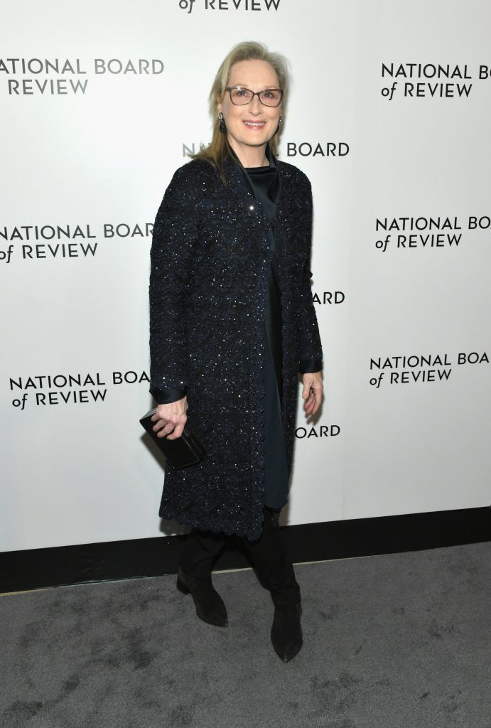 Actor Meryl Streep attends the 2018 The National Board Of Review Annual Awards Gala at Cipriani 42nd Street on January 9, 2018 in New York City.  (Photo by Mike Coppola/Getty Images)