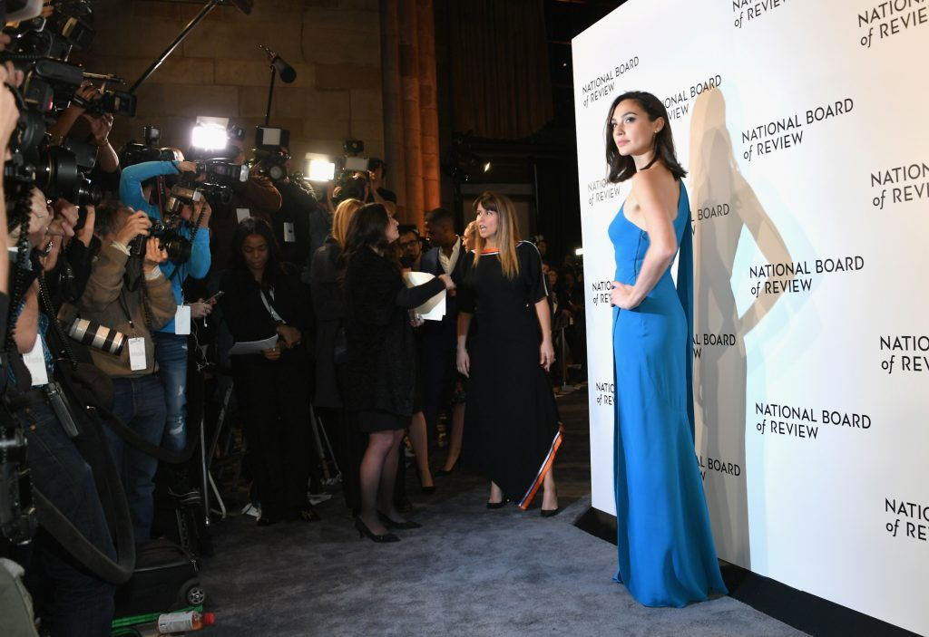 Actor Gal Gadot attends the 2018 The National Board Of Review Annual Awards Gala at Cipriani 42nd Street on January 9, 2018 in New York City.  (Photo by Mike Coppola/Getty Images)
