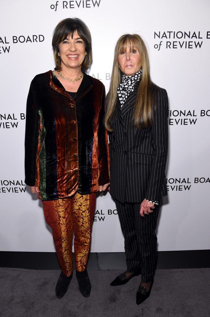 Journalist Christiane Amanpour (L) and National Board of Review President Annie Schulhof attend the The National Board Of Review Annual Awards Gala at Cipriani 42nd Street on January 9, 2018 in New York City.  (Photo by Jamie McCarthy/Getty Images for National Board of Review)