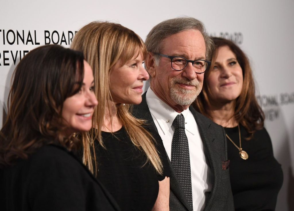 Steven Spielberg (2nd R) attends the 2018 National Board of Review Awards Gala at Cipriani 42nd Street on January 9, 2018 in New York City. (Photo by ANGELA WEISS/AFP/Getty Images)