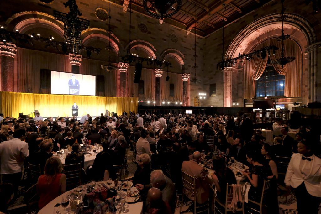 A view of the interior as guests enjoy dinner during the National Board of Review Annual Awards Gala at Cipriani 42nd Street on January 9, 2018 in New York City.  (Photo by Dimitrios Kambouris/Getty Images for National Board of Review)