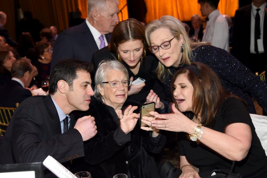 Grace Gummer, Meryl Streep, and Amy Pascal attend the National Board of Review Annual Awards Gala at Cipriani 42nd Street on January 9, 2018 in New York City.  (Photo by Dimitrios Kambouris/Getty Images for National Board of Review)
