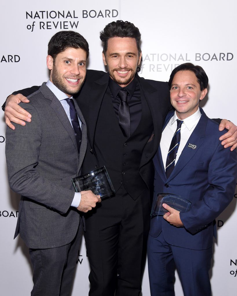 Michael Weber, James Franco and Scott Neustadter attend the National Board of Review Annual Awards Gala at Cipriani 42nd Street on January 9, 2018 in New York City.  (Photo by Jamie McCarthy/Getty Images for National Board of Review)