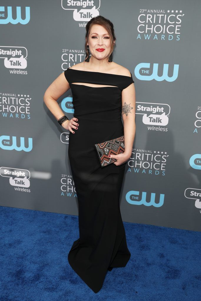 SANTA MONICA, CA - JANUARY 11:  Actor Amber Nash attends The 23rd Annual Critics' Choice Awards at Barker Hangar on January 11, 2018 in Santa Monica, California.  (Photo by Christopher Polk/Getty Images for The Critics' Choice Awards  )