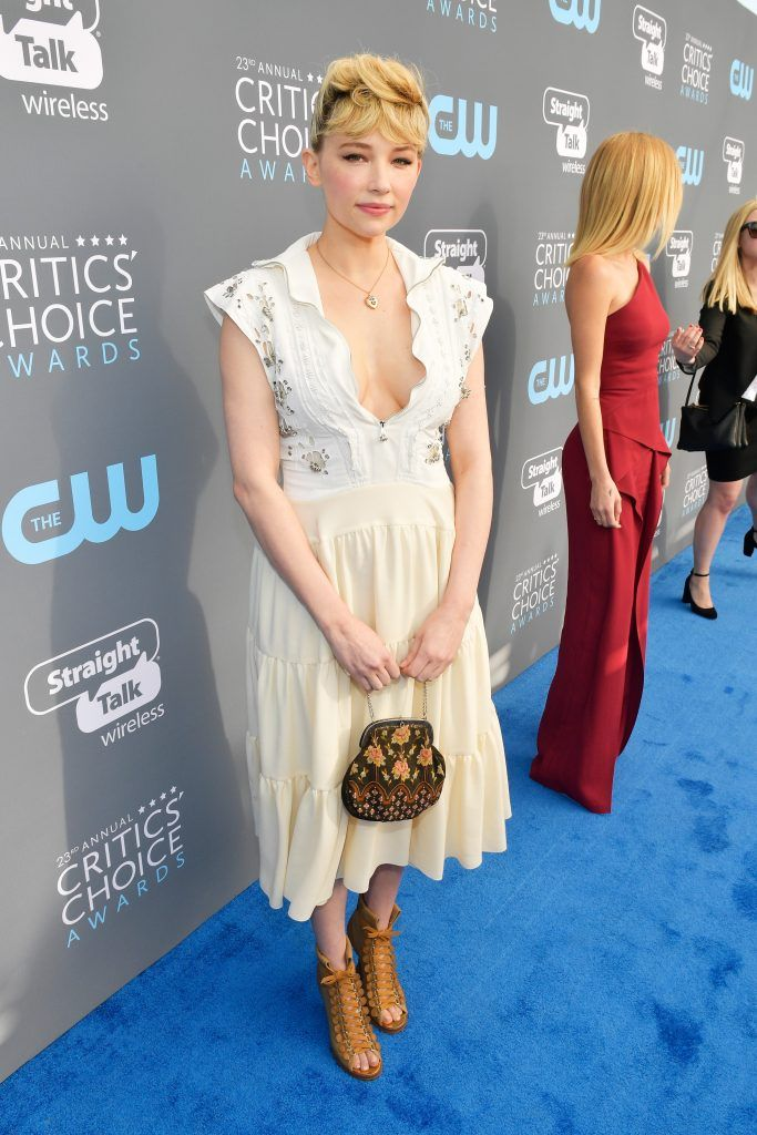 SANTA MONICA, CA - JANUARY 11:  Actor Haley Bennett attends The 23rd Annual Critics' Choice Awards at Barker Hangar on January 11, 2018 in Santa Monica, California.  (Photo by Matt Winkelmeyer/Getty Images for The Critics' Choice Awards  )