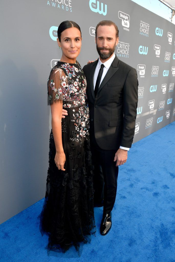SANTA MONICA, CA - JANUARY 11:  Actors Maria Dolores Dieguez and Joseph Fiennes attend The 23rd Annual Critics' Choice Awards at Barker Hangar on January 11, 2018 in Santa Monica, California.  (Photo by Matt Winkelmeyer/Getty Images for The Critics' Choice Awards  )