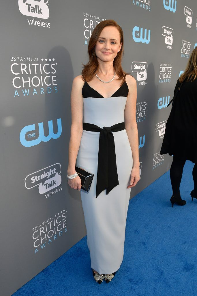 SANTA MONICA, CA - JANUARY 11:  Actor Alexis Bledel attends The 23rd Annual Critics' Choice Awards at Barker Hangar on January 11, 2018 in Santa Monica, California.  (Photo by Matt Winkelmeyer/Getty Images for The Critics' Choice Awards  )
