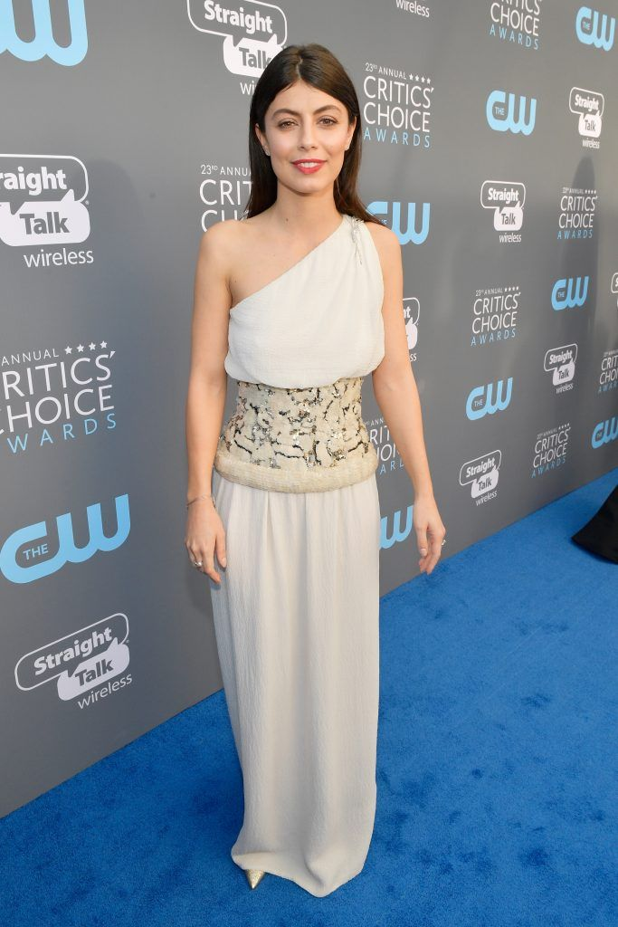SANTA MONICA, CA - JANUARY 11:  Actor Alessandra Mastronardi attends The 23rd Annual Critics' Choice Awards at Barker Hangar on January 11, 2018 in Santa Monica, California.  (Photo by Matt Winkelmeyer/Getty Images for The Critics' Choice Awards  )