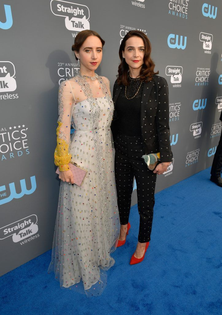 SANTA MONICA, CA - JANUARY 11:  Actors Zoe Kazan (L) and Maya Kazan attends The 23rd Annual Critics' Choice Awards at Barker Hangar on January 11, 2018 in Santa Monica, California.  (Photo by Matt Winkelmeyer/Getty Images for The Critics' Choice Awards  )