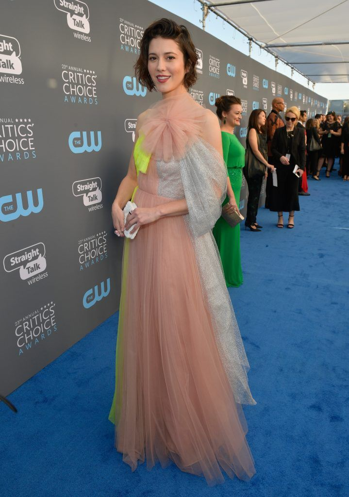 SANTA MONICA, CA - JANUARY 11:  Actor Mary Elizabeth Winstead attends The 23rd Annual Critics' Choice Awards at Barker Hangar on January 11, 2018 in Santa Monica, California.  (Photo by Matt Winkelmeyer/Getty Images for The Critics' Choice Awards  )