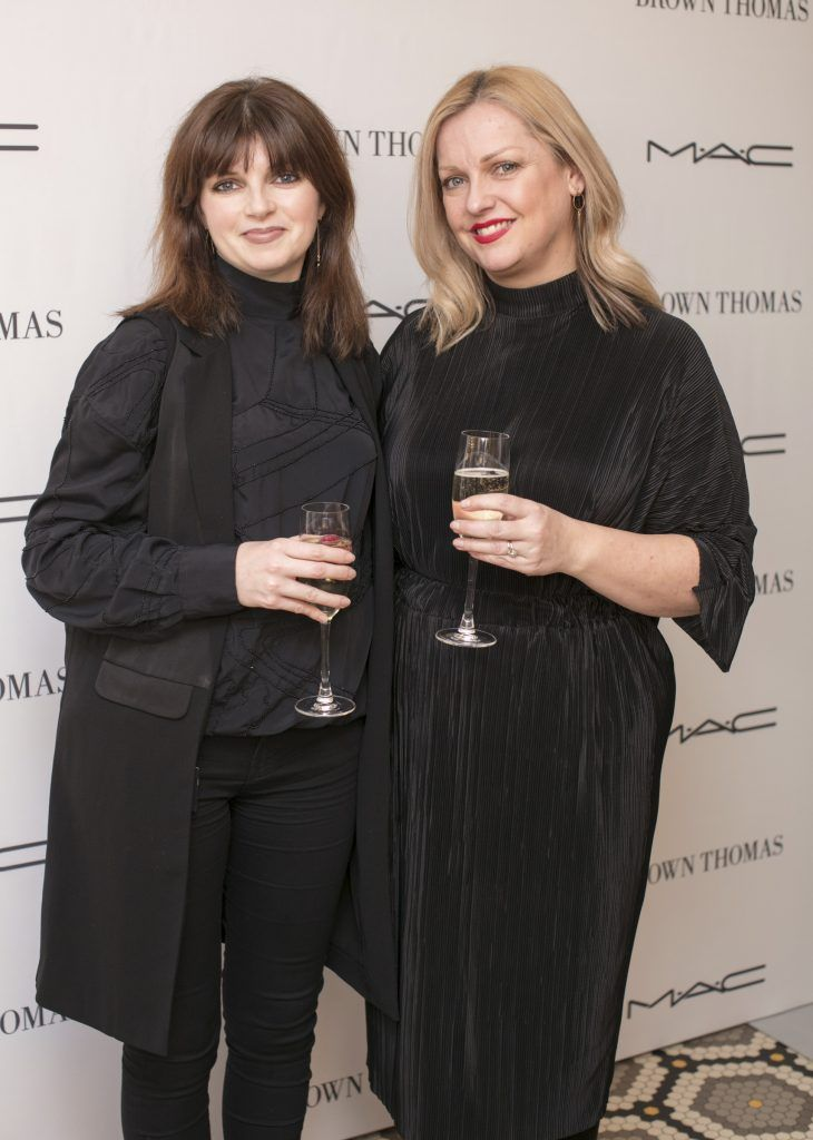 Lesley Keane & Susan Ryan pictured at The Restaurant at Brown Thomas where M.A.C Cosmetics celebrated 20 years of colour, creativity and culture at Brown Thomas Dublin. Photo: Anthony Woods.