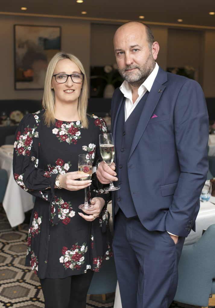 Patricia Sharkey & Adrian Sharkey pictured at The Restaurant at Brown Thomas where M.A.C Cosmetics celebrated 20 years of colour, creativity and culture at Brown Thomas Dublin. Photo: Anthony Woods.