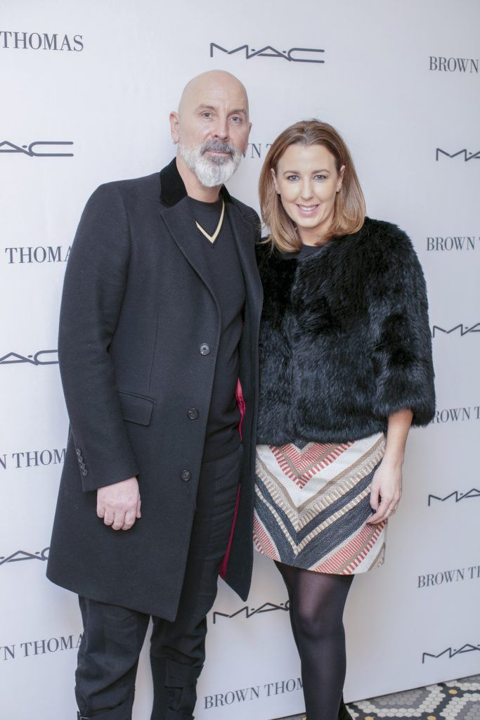 Terry Barber & Clodagh Edwards pictured at The Restaurant at Brown Thomas where M.A.C Cosmetics celebrated 20 years of colour, creativity and culture at Brown Thomas Dublin. Photo: Anthony Woods.