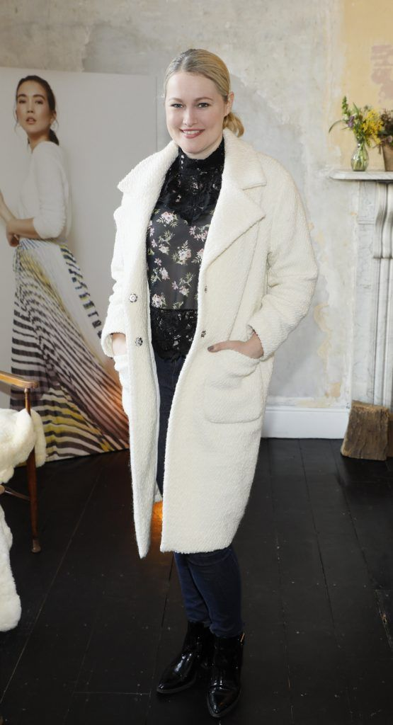Lorna Weightman at the launch of Mint Velvet's new Spring/Summer 2018 collection at 23 Leinster Road -photo Kieran Harnett