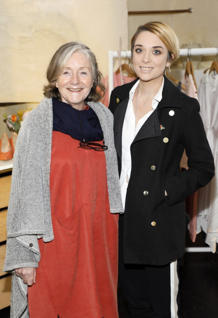 Rebecca Morgan and Rachael Doogue at the launch of Mint Velvet's new Spring/Summer 2018 collection at 23 Leinster Road -photo Kieran Harnett