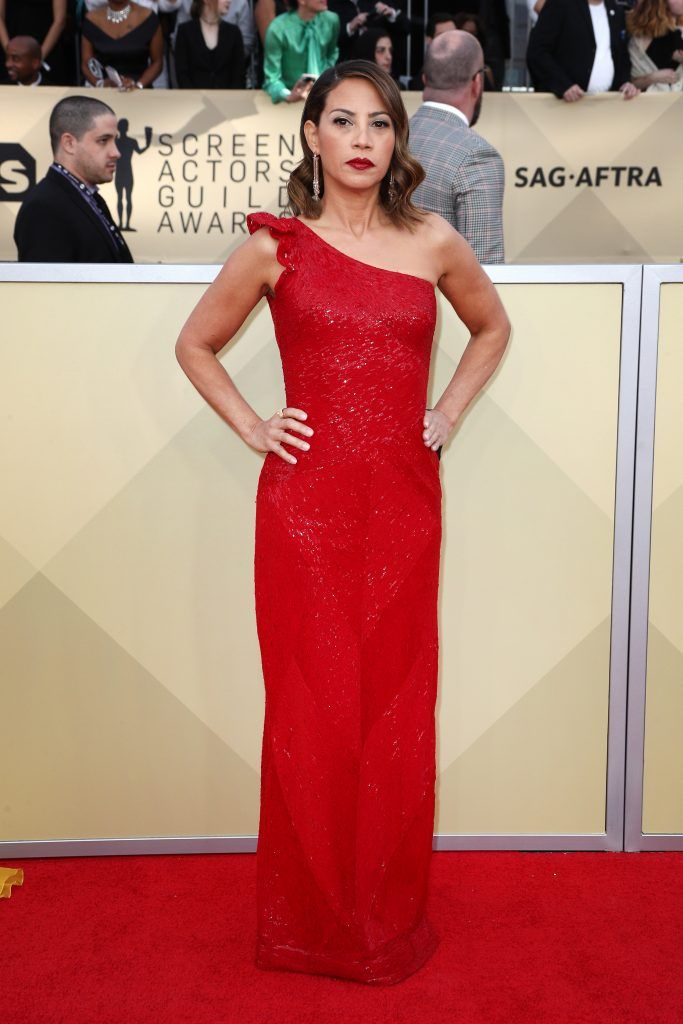 LOS ANGELES, CA - JANUARY 21: Actor Elizabeth Rodriguez attends the 24th Annual Screen Actors Guild Awards at The Shrine Auditorium on January 21, 2018 in Los Angeles, California. 27522_017  (Photo by Frederick M. Brown/Getty Images)