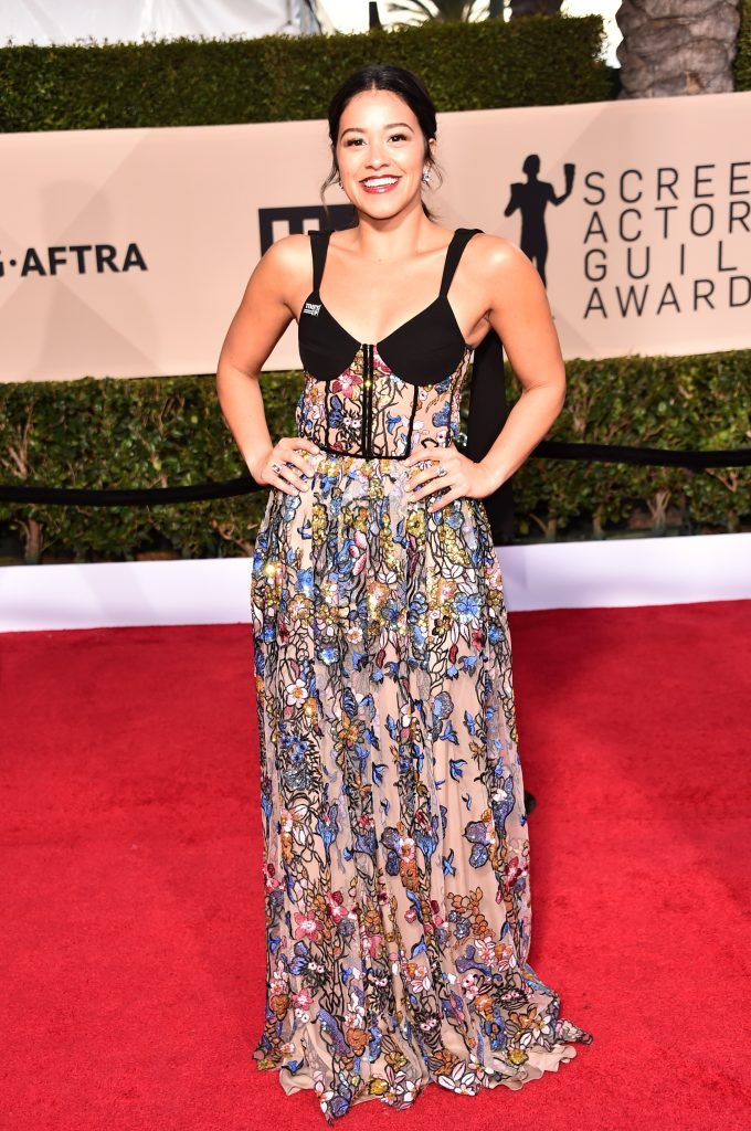 LOS ANGELES, CA - JANUARY 21:  Actor Gina Rodriguez attends the 24th Annual Screen Actors Guild Awards at The Shrine Auditorium on January 21, 2018 in Los Angeles, California. 27522_006  (Photo by Alberto E. Rodriguez/Getty Images)