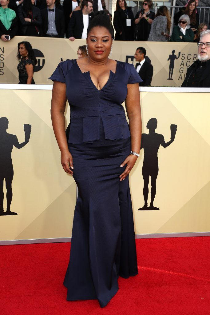 LOS ANGELES, CA - JANUARY 21:  Actor Adrienne C. Moore attends the 24th Annual Screen Actors Guild Awards at The Shrine Auditorium on January 21, 2018 in Los Angeles, California. 27522_017  (Photo by Frederick M. Brown/Getty Images)