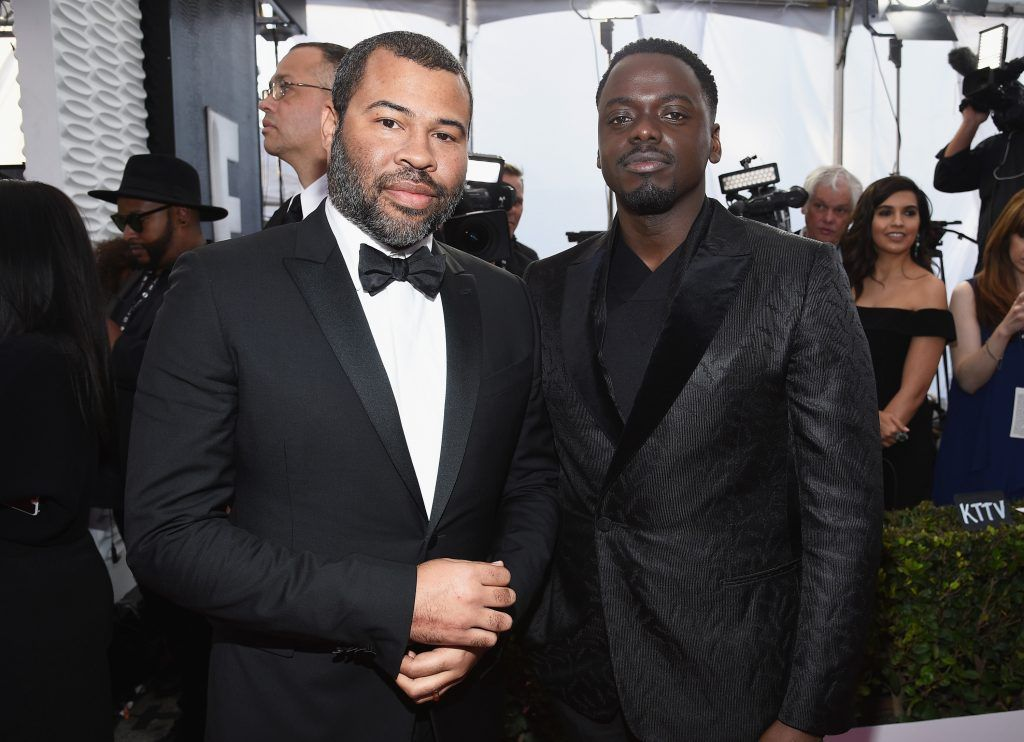 LOS ANGELES, CA - JANUARY 21:  Director Jordan Peele (L) and actor Daniel Kaluuya attends the 24th Annual Screen Actors Guild Awards at The Shrine Auditorium on January 21, 2018 in Los Angeles, California.  (Photo by Kevork Djansezian/Getty Images)
