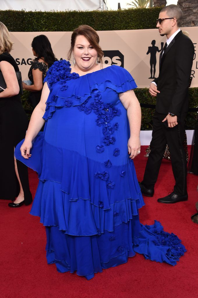 LOS ANGELES, CA - JANUARY 21:  Actor Chrissy Metz attends the 24th Annual Screen Actors Guild Awards at The Shrine Auditorium on January 21, 2018 in Los Angeles, California. 27522_006  (Photo by Alberto E. Rodriguez/Getty Images)