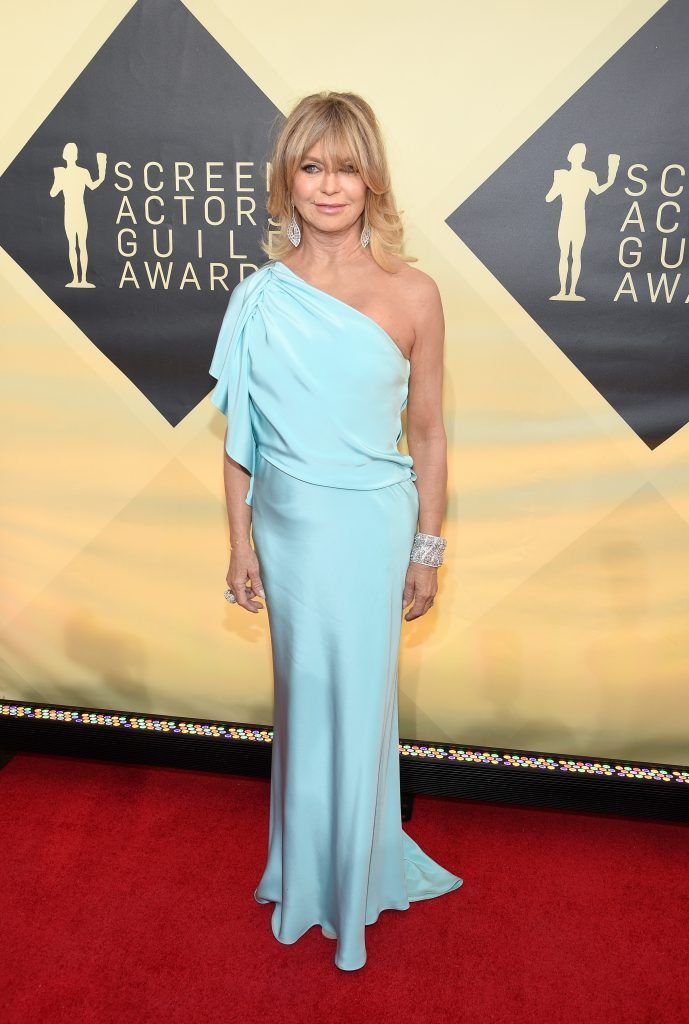 LOS ANGELES, CA - JANUARY 21:  Actor Goldie Hawn attends the 24th Annual Screen Actors Guild Awards at The Shrine Auditorium on January 21, 2018 in Los Angeles, California.  (Photo by Kevork Djansezian/Getty Images)