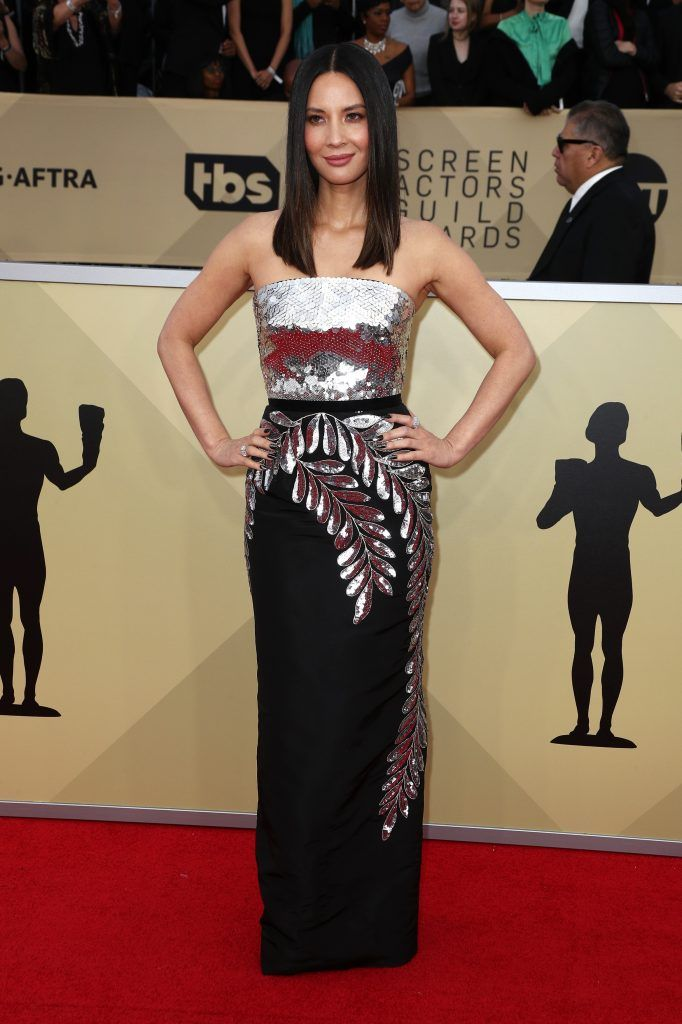 LOS ANGELES, CA - JANUARY 21: Actor Olivia Munn attends the 24th Annual Screen Actors Guild Awards at The Shrine Auditorium on January 21, 2018 in Los Angeles, California. 27522_017  (Photo by Frederick M. Brown/Getty Images)