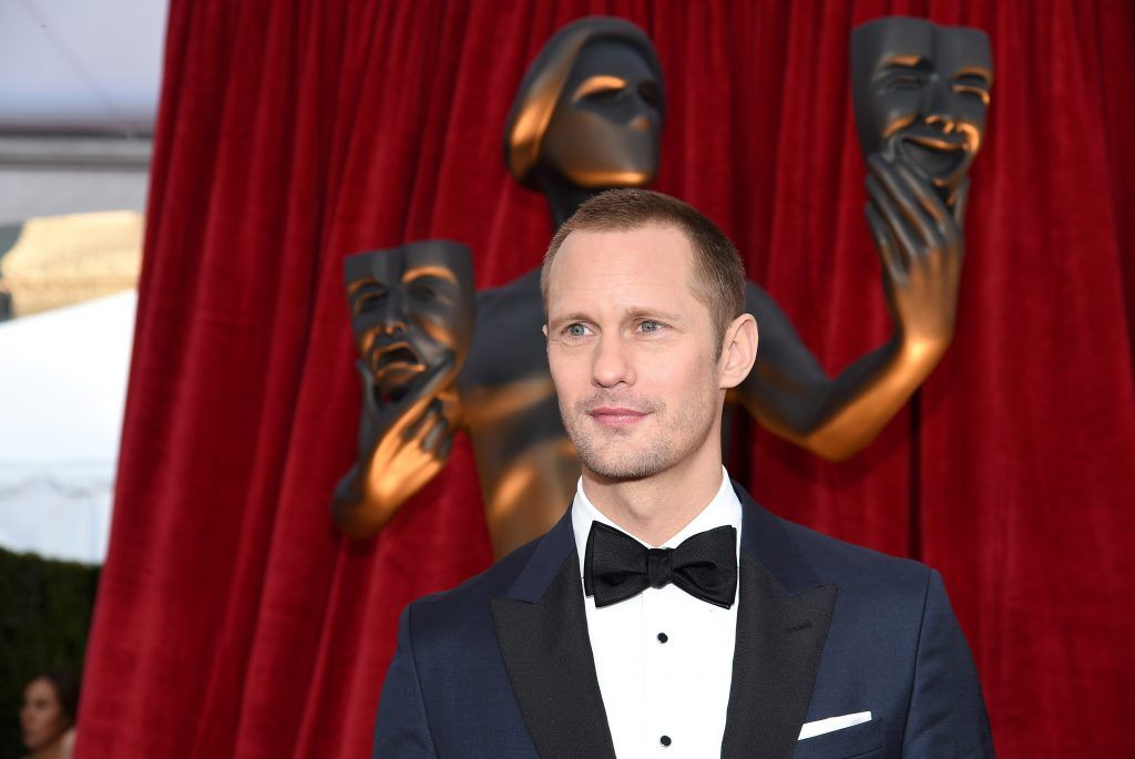 LOS ANGELES, CA - JANUARY 21:  Actor Alexander Skarsgard attends the 24th Annual Screen Actors Guild Awards at The Shrine Auditorium on January 21, 2018 in Los Angeles, California.  (Photo by Kevork Djansezian/Getty Images)