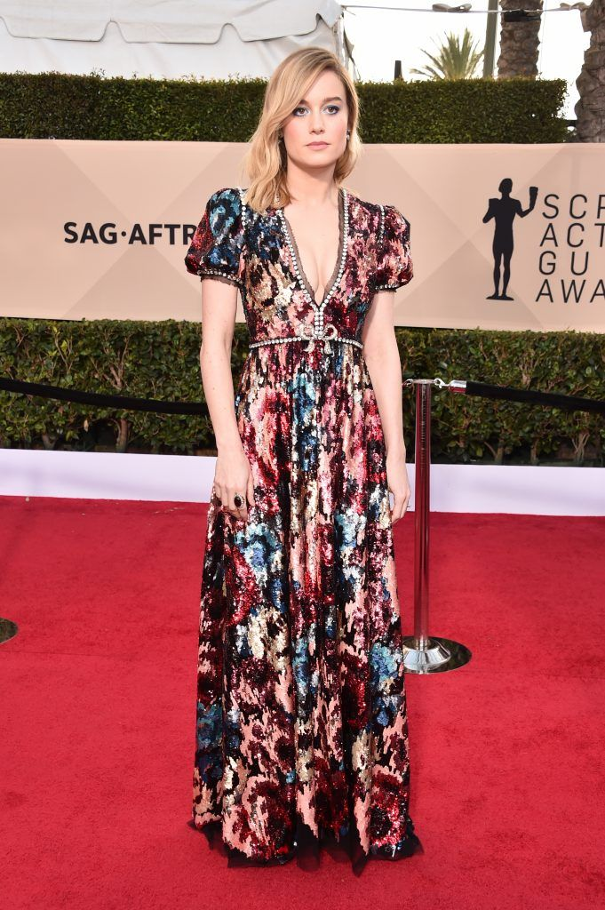 LOS ANGELES, CA - JANUARY 21:  Actor Brie Larson attends the 24th Annual Screen Actors Guild Awards at The Shrine Auditorium on January 21, 2018 in Los Angeles, California. 27522_006  (Photo by Alberto E. Rodriguez/Getty Images)